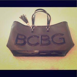 Huge BCBG black tote nwot excellent